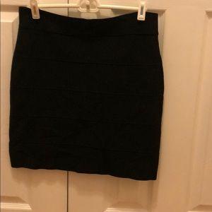 Black size large bandage skirt from bcbgmaxazria